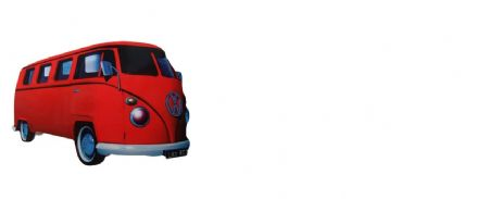 Red Split Camper Van Fridge Magnet